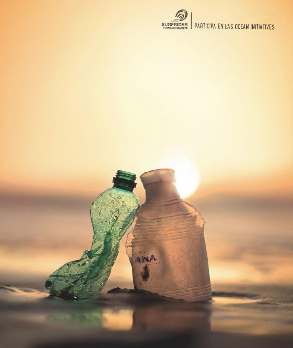 Ocean initiatives, botellas de plástico