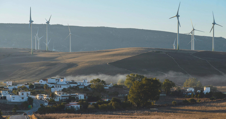 Parque eólico en Andalucía, 2017.