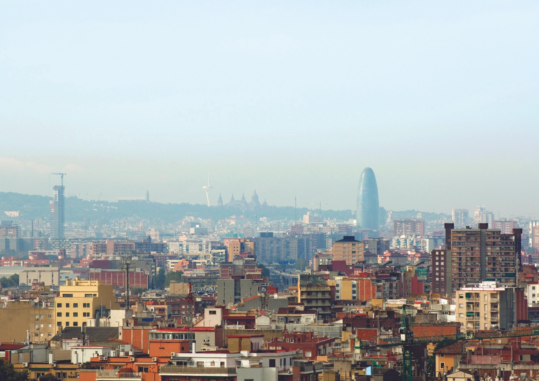 Contaminación del aire en Barcelona, 2016.