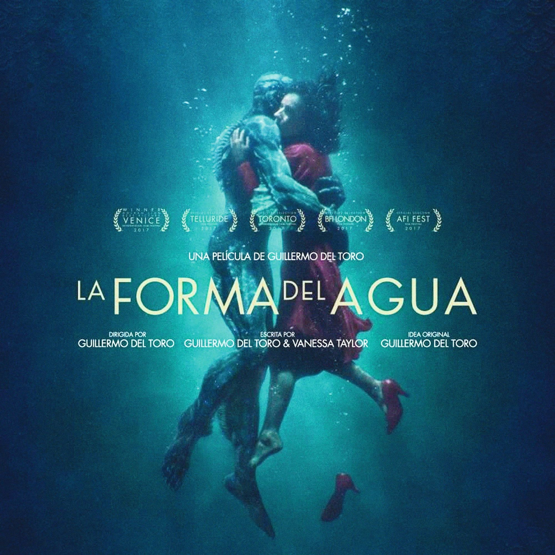 Cartel de la película La Forma del agua, 2017.