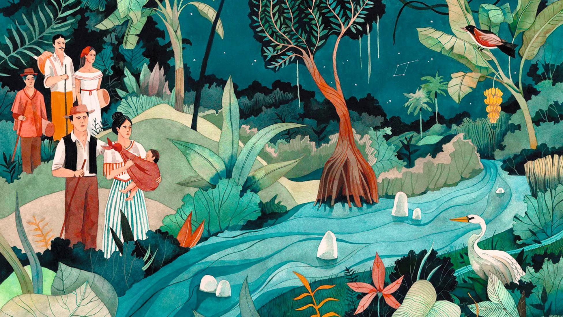 Luisa Rivera, edición ilustrada de Cien años de soledad, 2017.