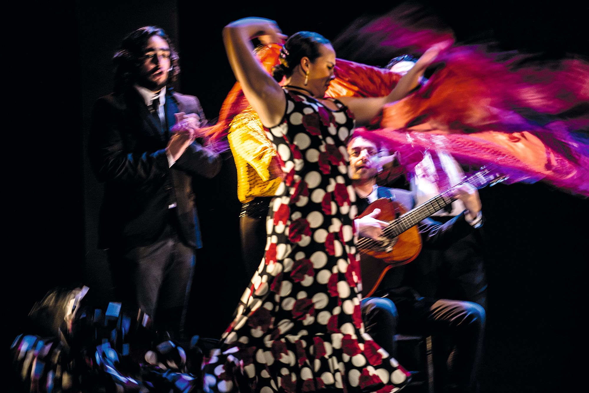 Espectáculo de flamenco Emociones, Teatro Flamenco Madrid, 2019.