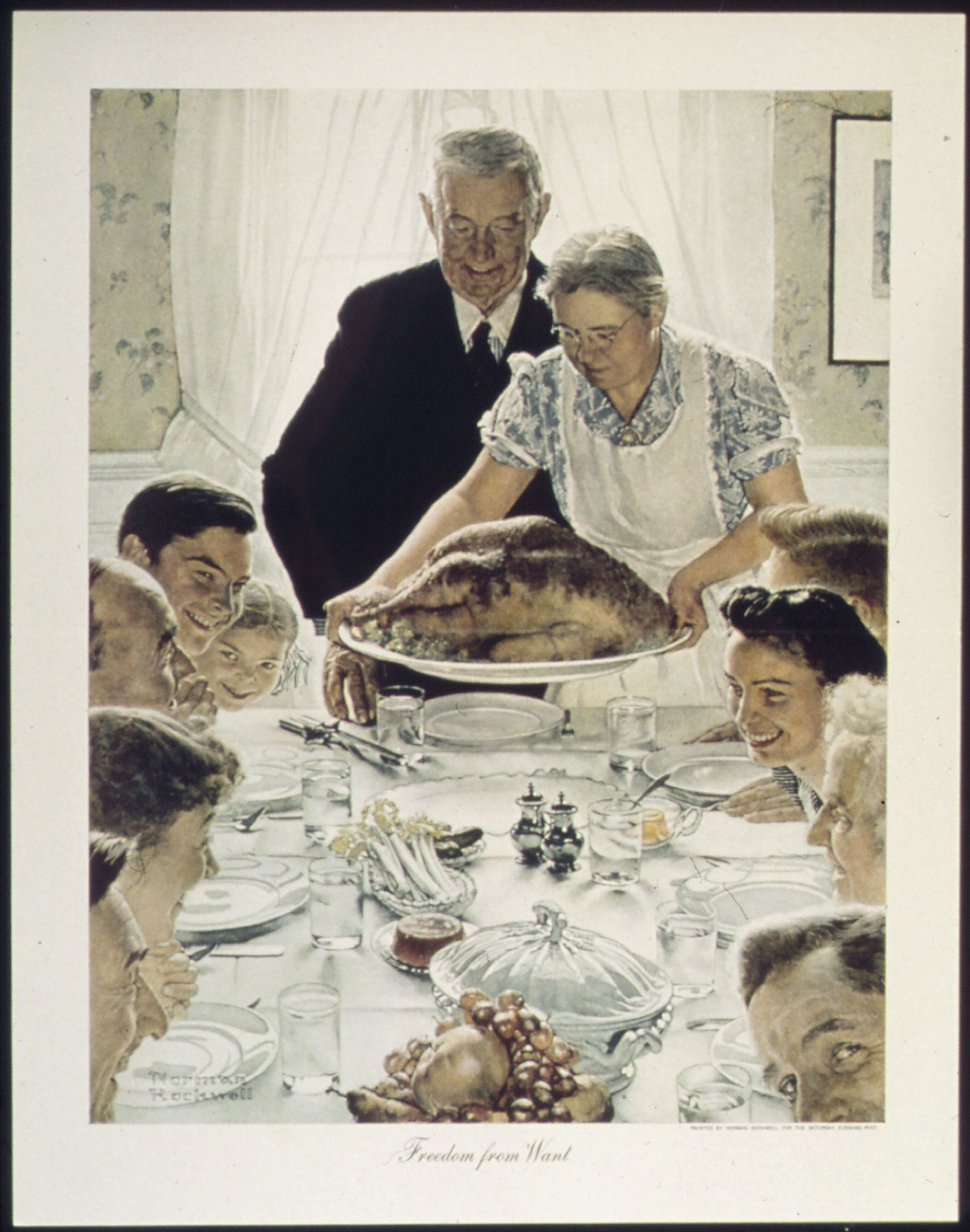 Freedom from want, Norman Rockwell, 1942.
