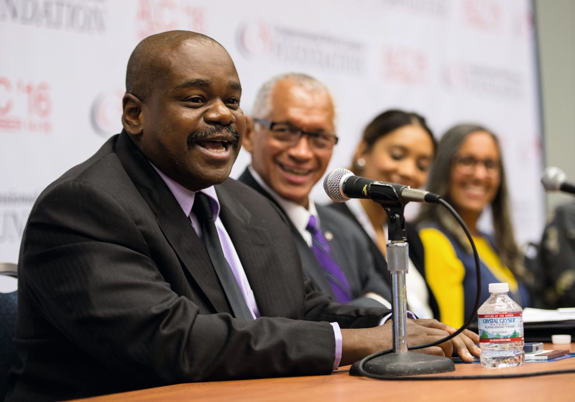 Rudy L. Horne participates in a panel discussion on Women in STEM, 2016.