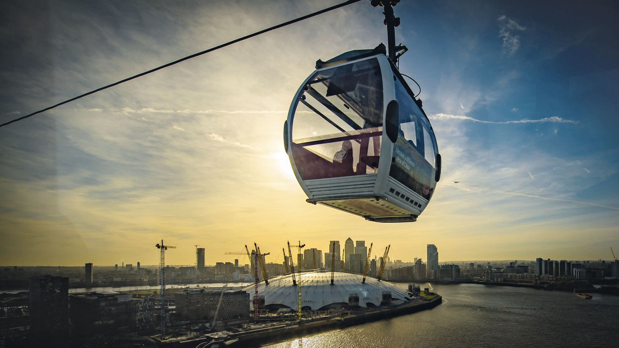 Emirates Cable Car, Greenwich, London, 2016.