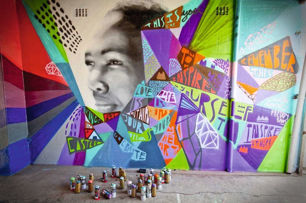 Graffitis wall