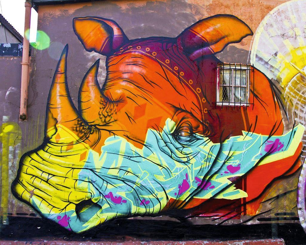 Rhinoceros Urban Art