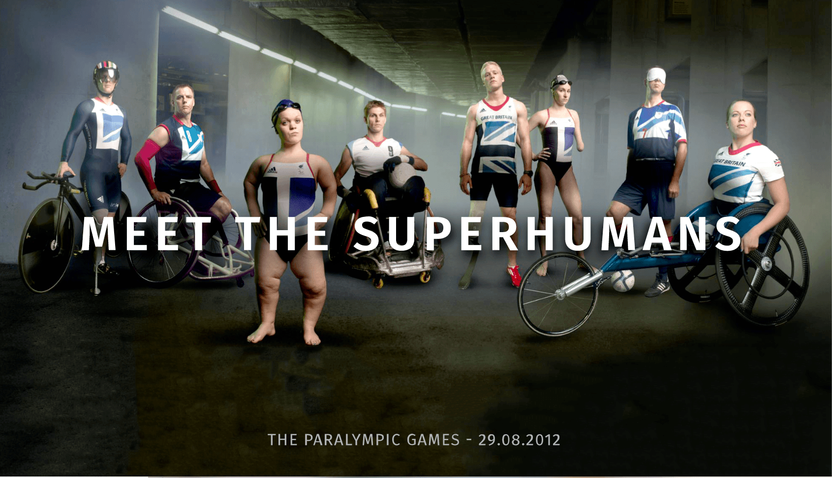 Promotional poster of the British Paralympic Team, 2016.