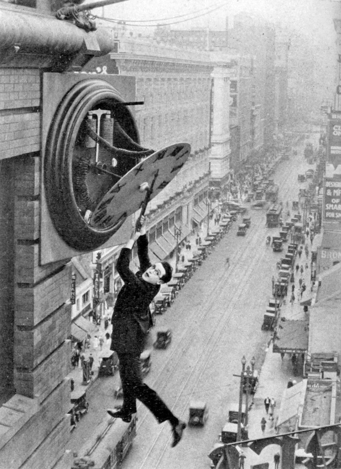 Safety Last!, with Harold Lloyd, by Fred Newmeyer and  Sam Taylor, 1923..