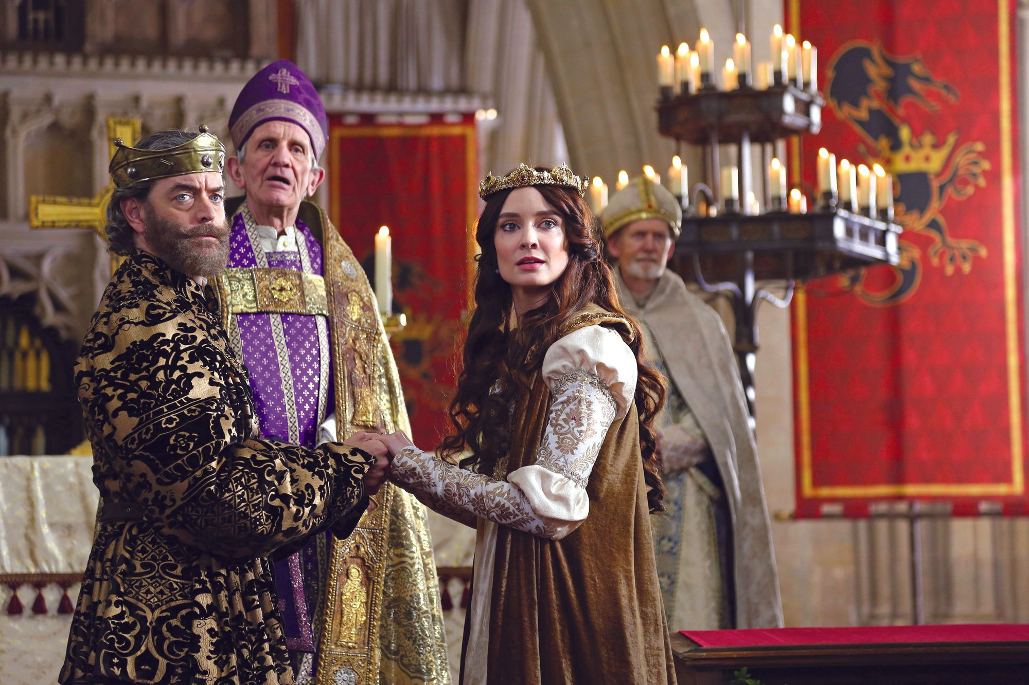 The wedding scene from the TV series Galavant
