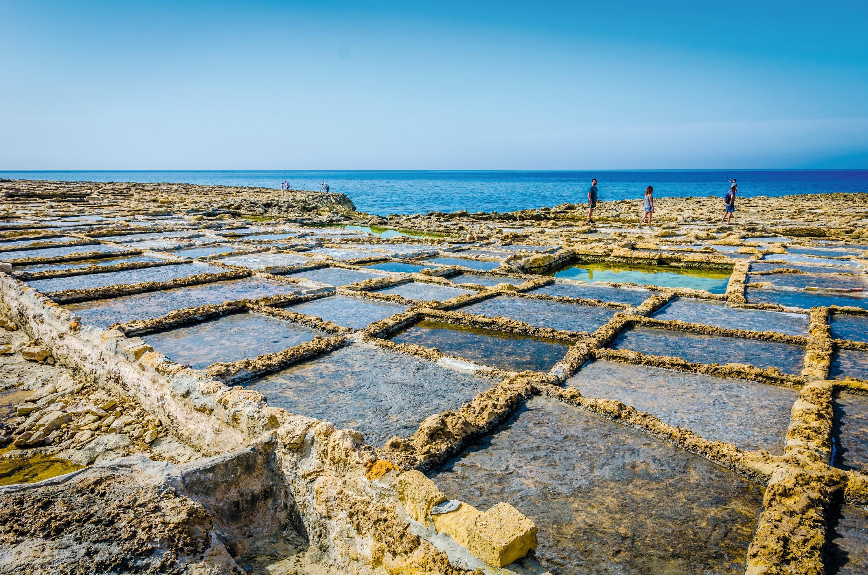 Anciens bassins de récolte de sel, Gozo, Malte