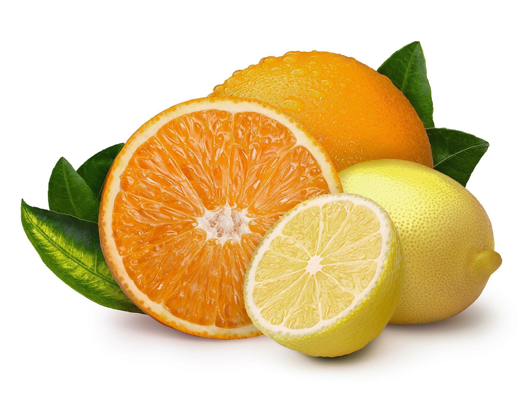 Huiles essentielles d'orange et de citron