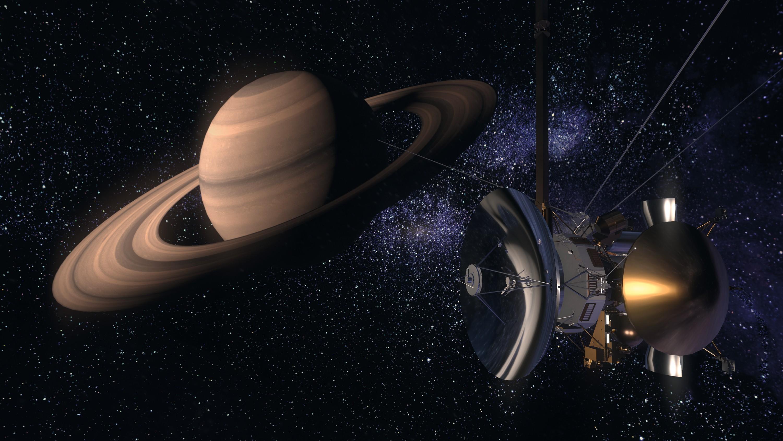 Sonde Cassino en approche de Saturne