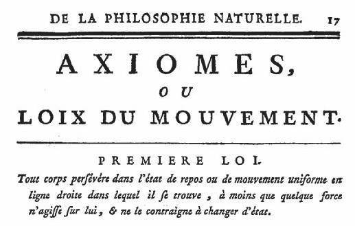 Première loi de Newton