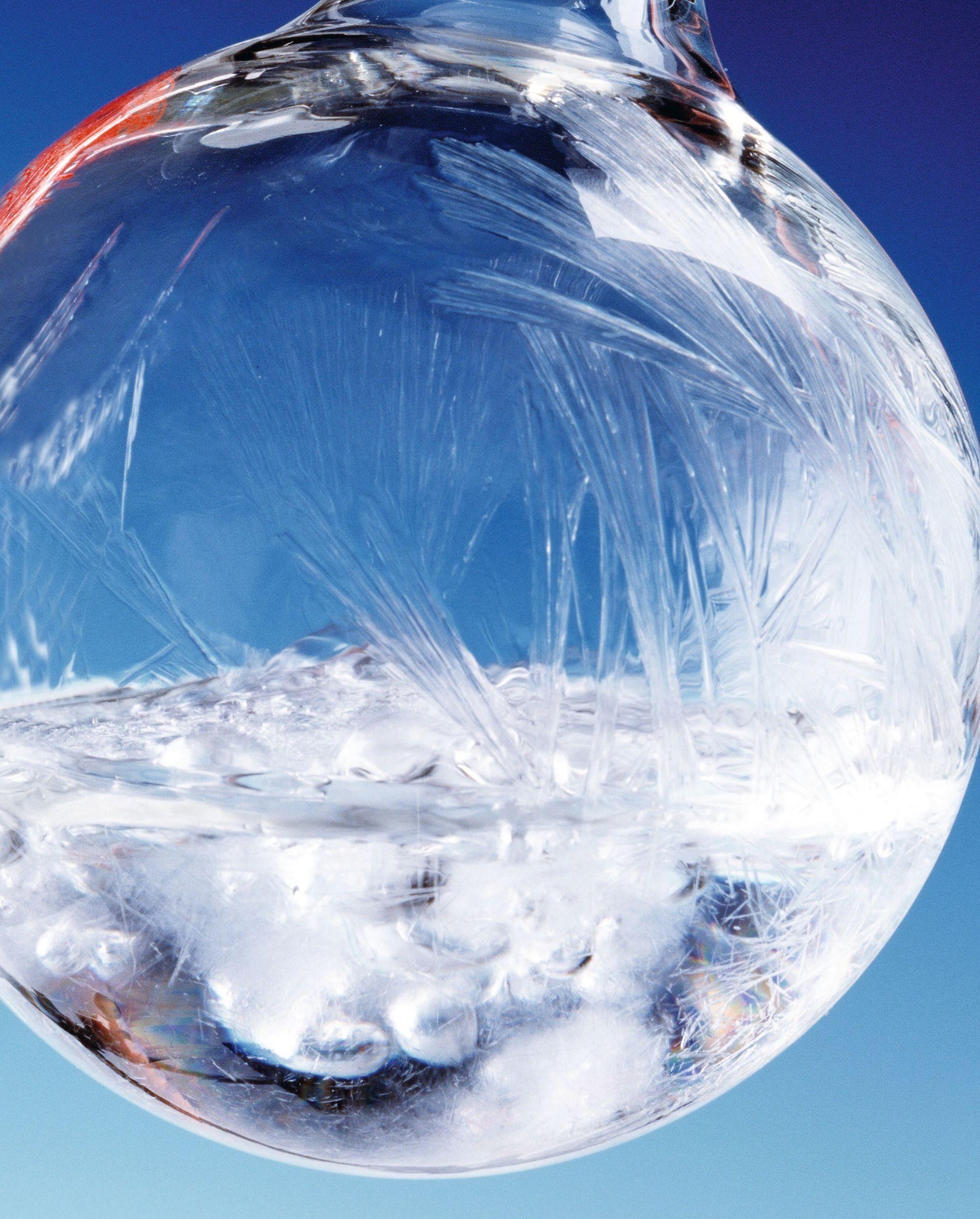 Photo de l'état triple de l'eau - Triplium