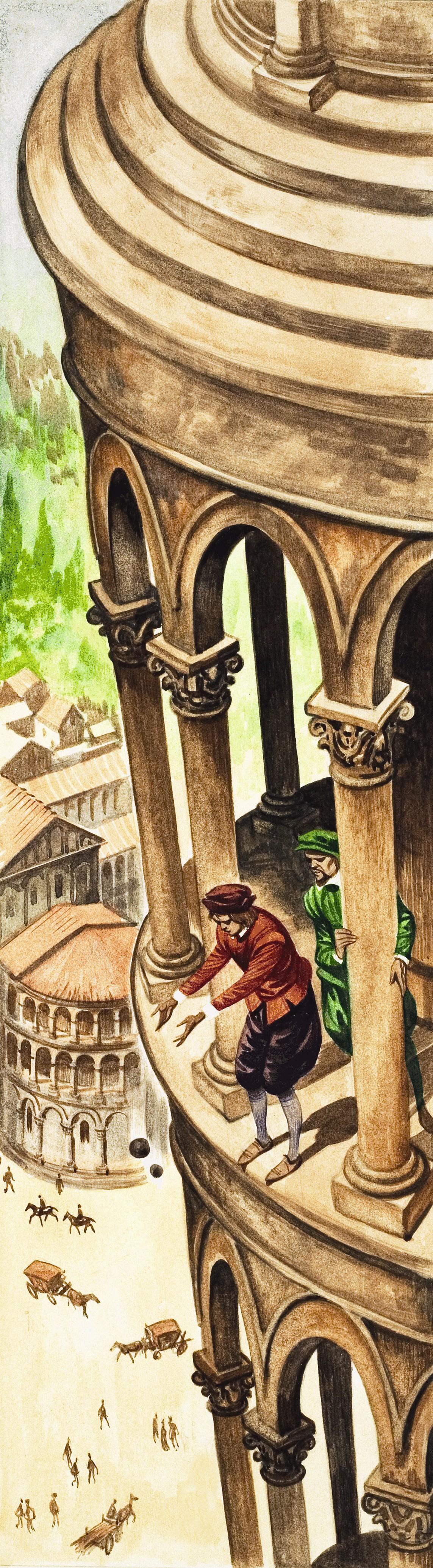 Expérience de Galilée du haut de la tour de Pise