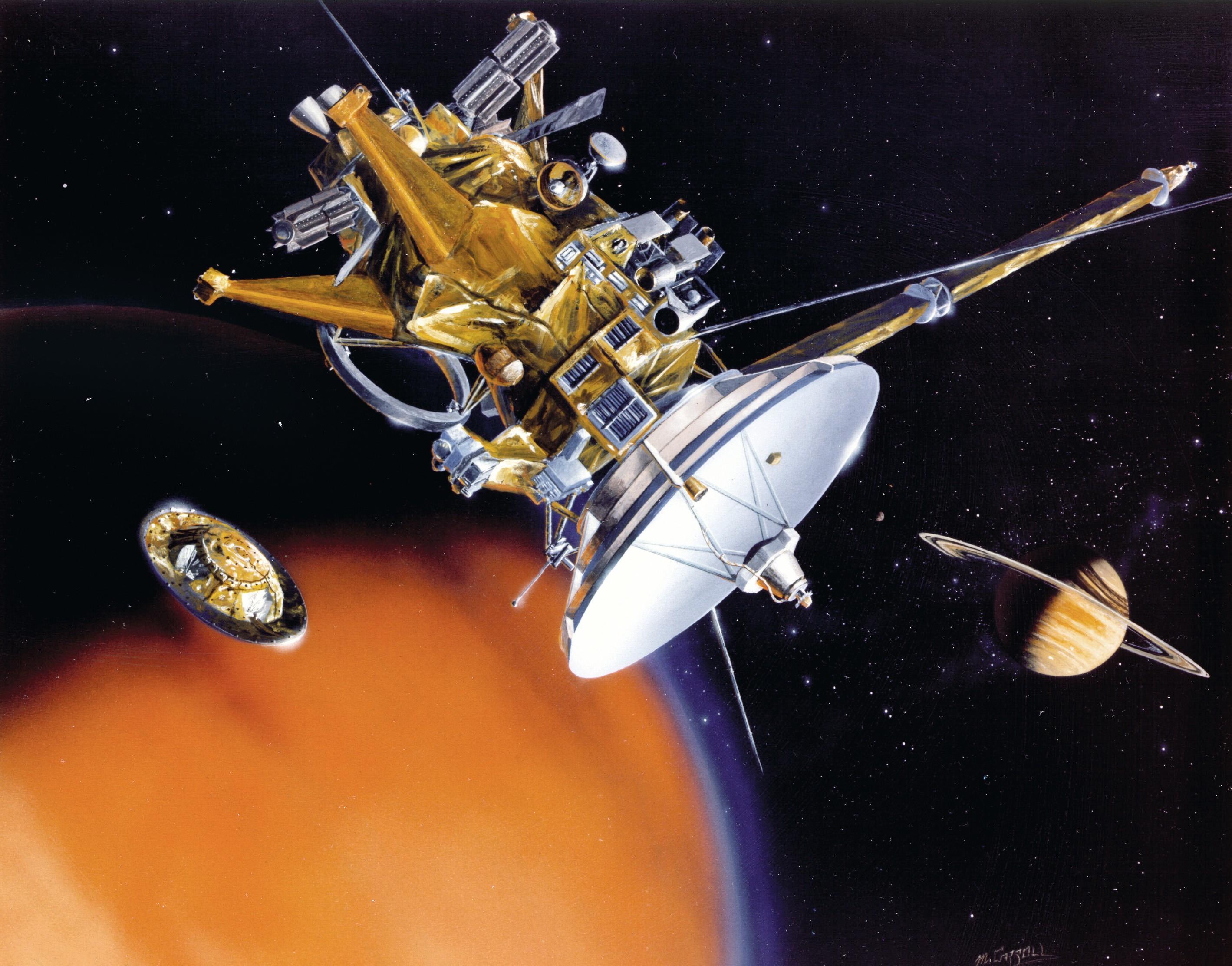 Cassini-Huygens en approche de Titan