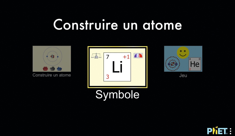 Application, construire un atome