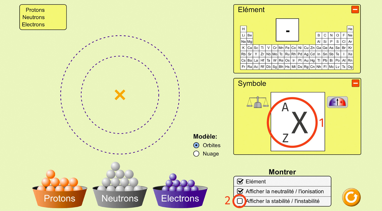 Construire un atome, application