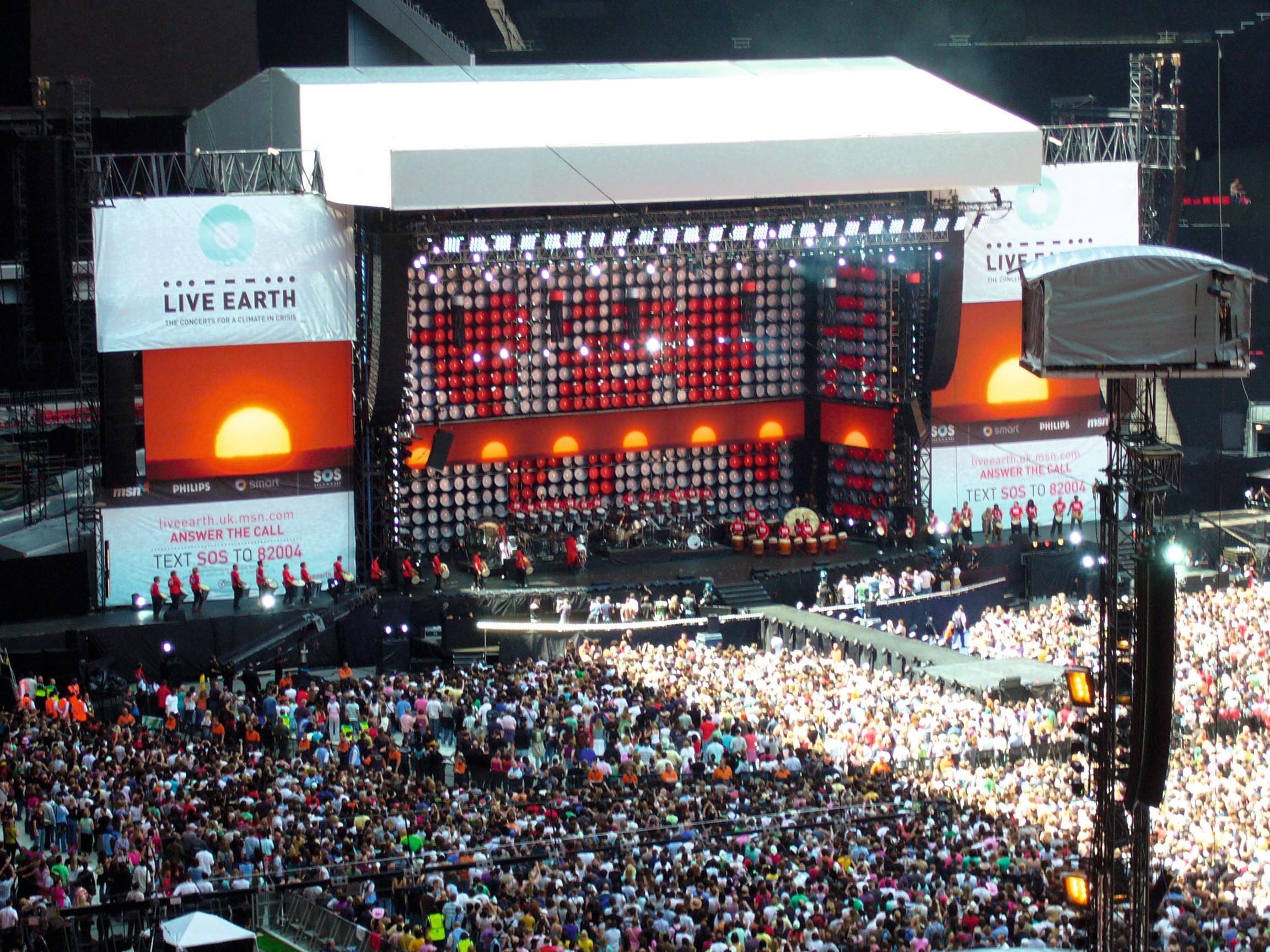 Concert au stade de Wembley