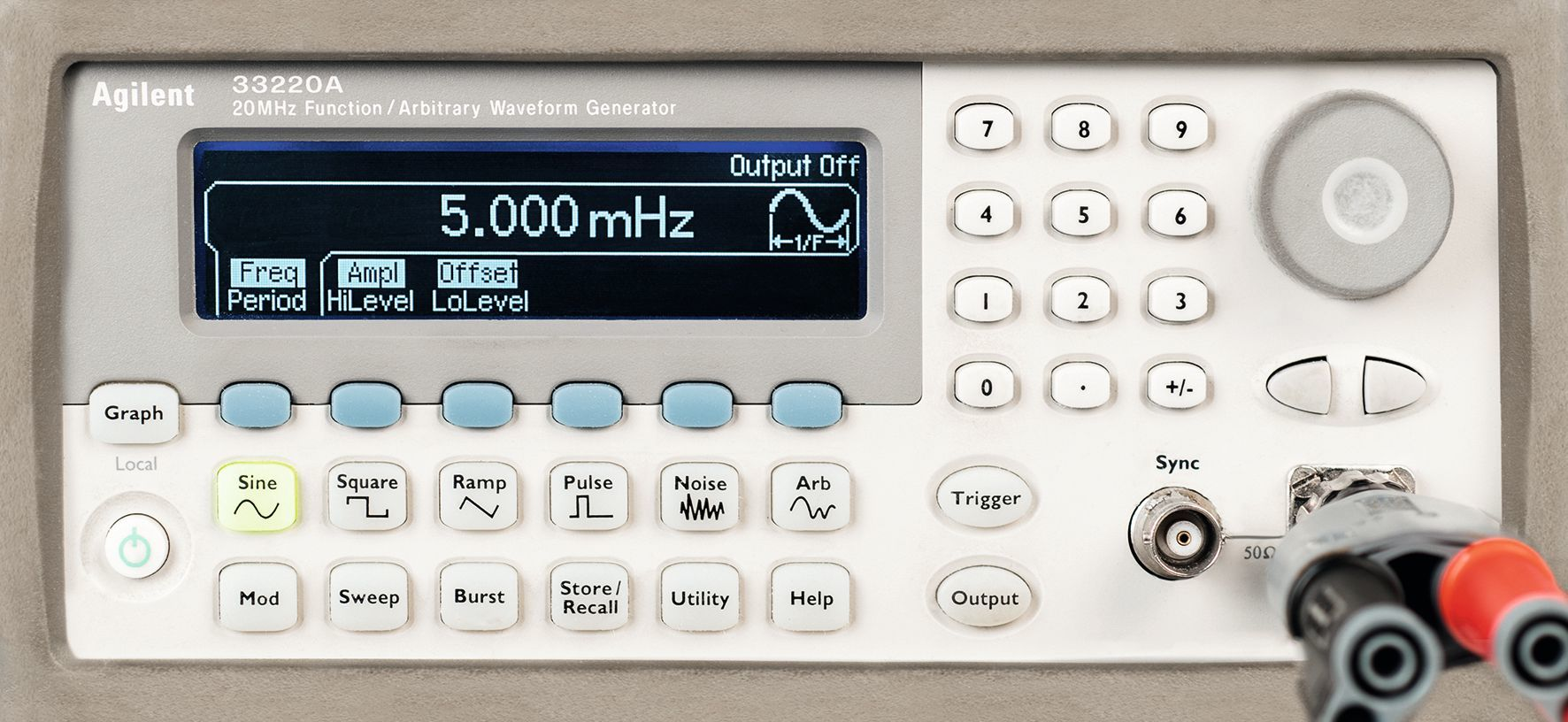 Un générateur basses fréquences (GBF)