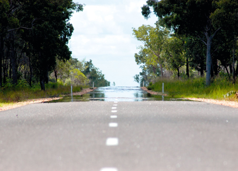 Mirage sur une route d'Australie