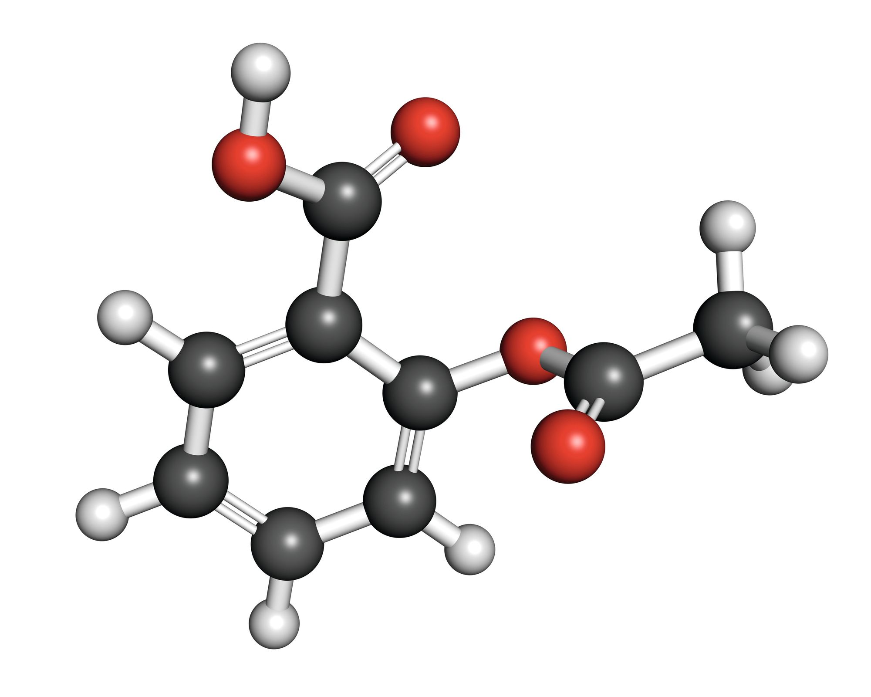 Modèle moléculaire de l'aspirine