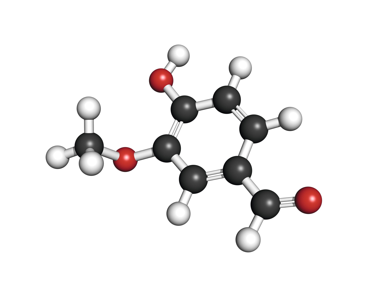 Molécule de la vanilline