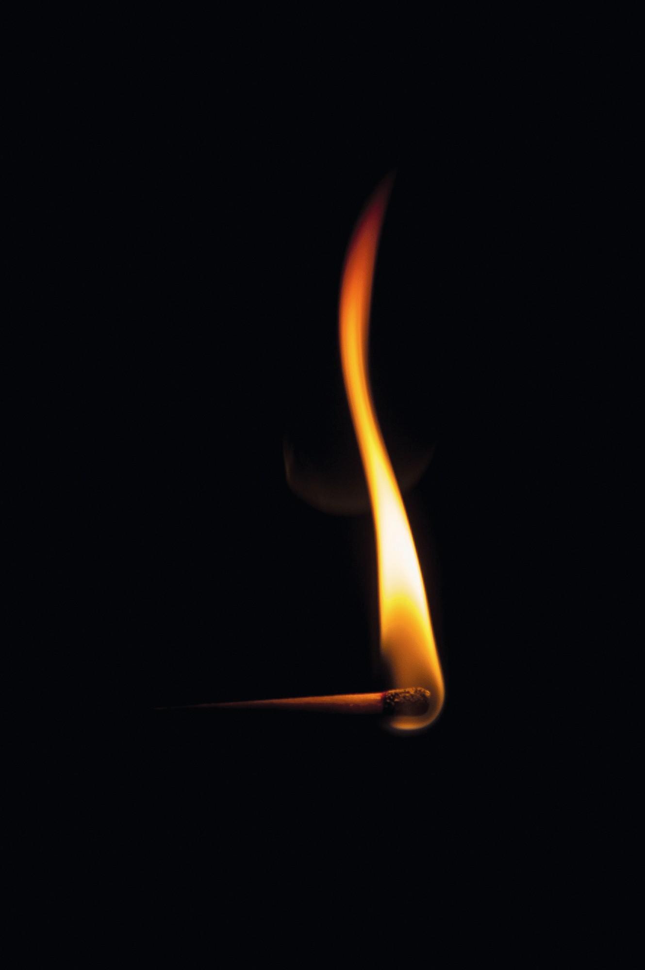 Combustion d'une allumette
