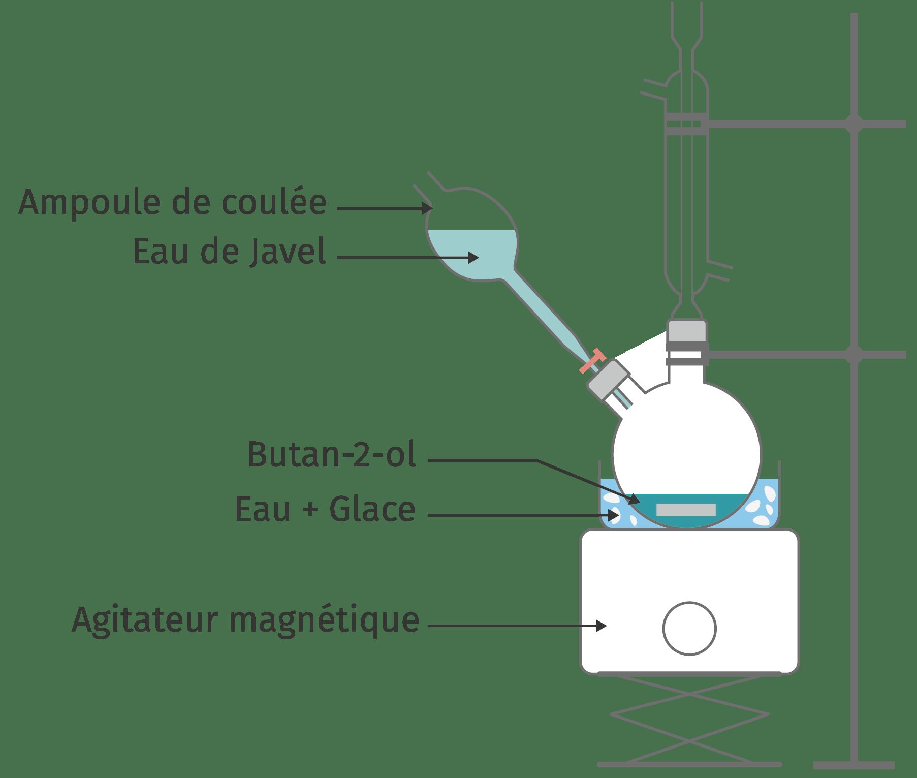 Schéma d'utilisation d'une ampoule de coudée