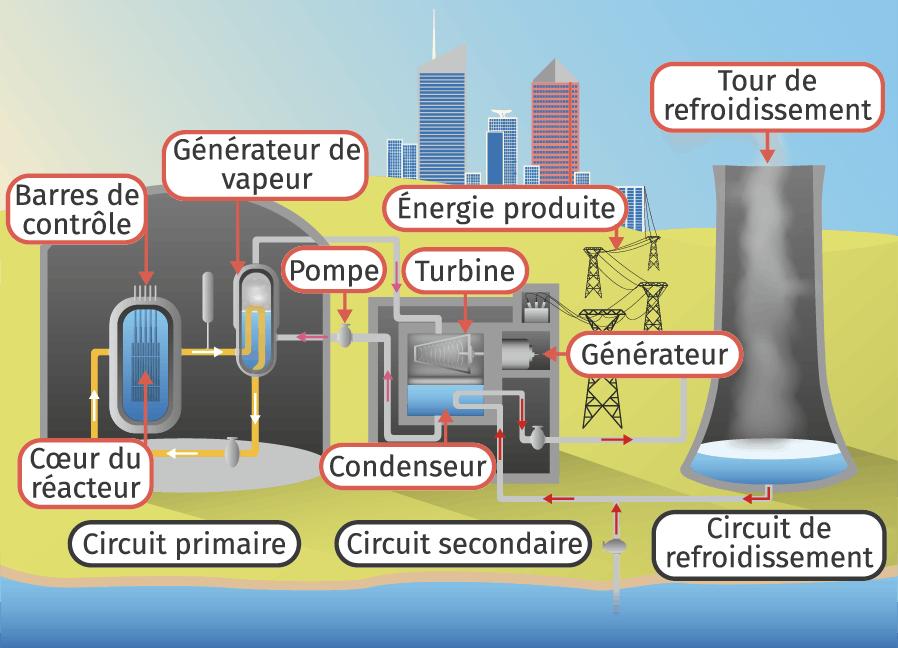 Fonctionnement d'une centrale nucléaire de type REP