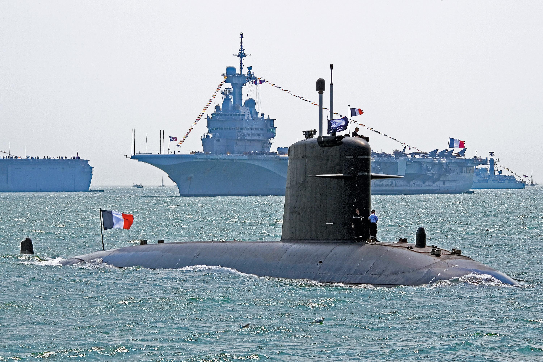 Le Perle, sous-marin nucléaire d'attaque (SNA) de classe Rubis.