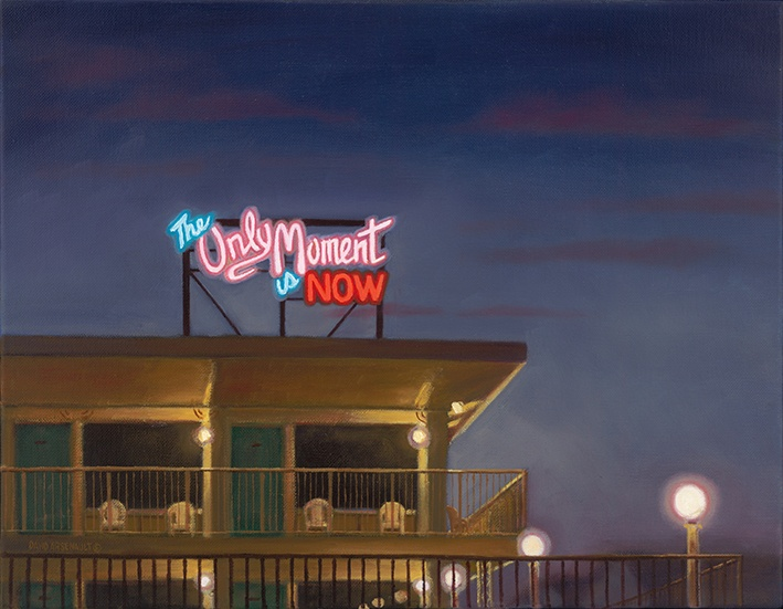 David Arsenault, « The only moment is now », 2011, huile sur toile, 14 × 18 cm, coll. privée.