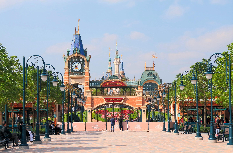 Le parc Disneyland à Shanghai en Chine