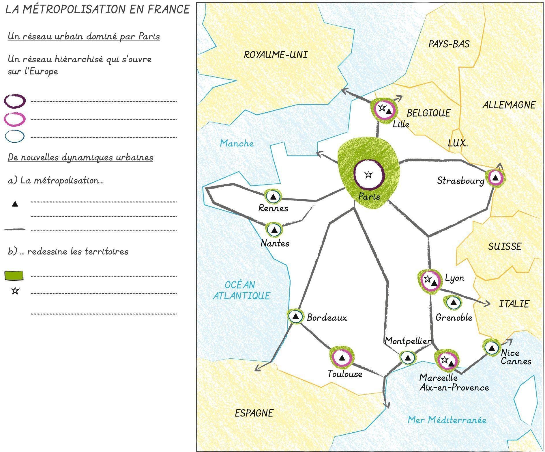 la métropolisation en France