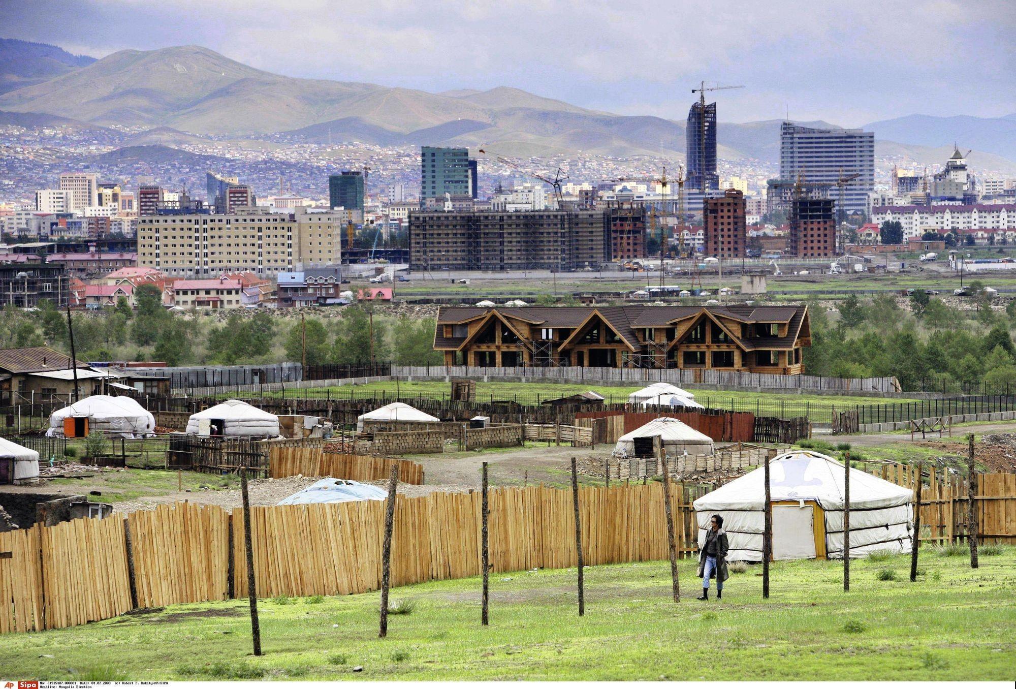 Vue d'Oulan-Bator, capitale de la Mongolie