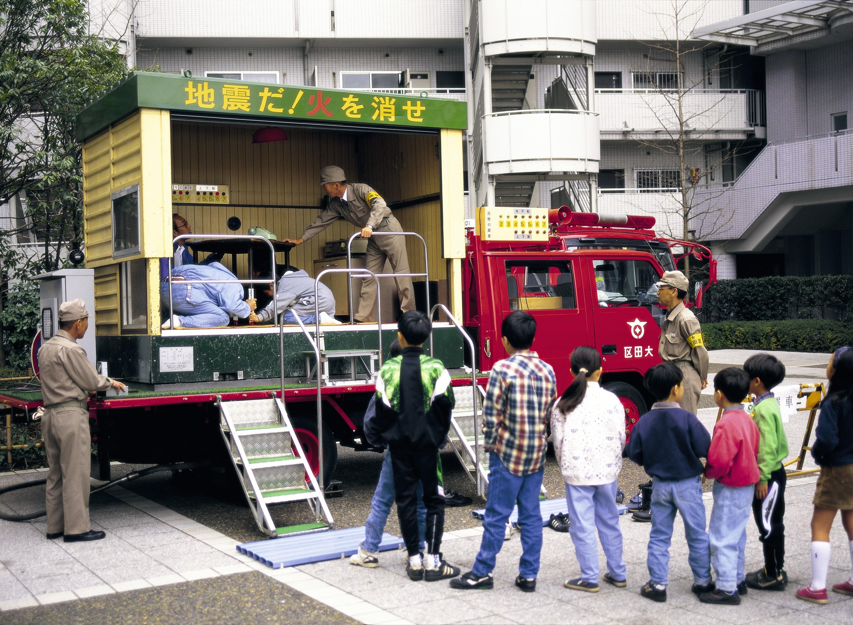 Un simulateur de séisme au Japon