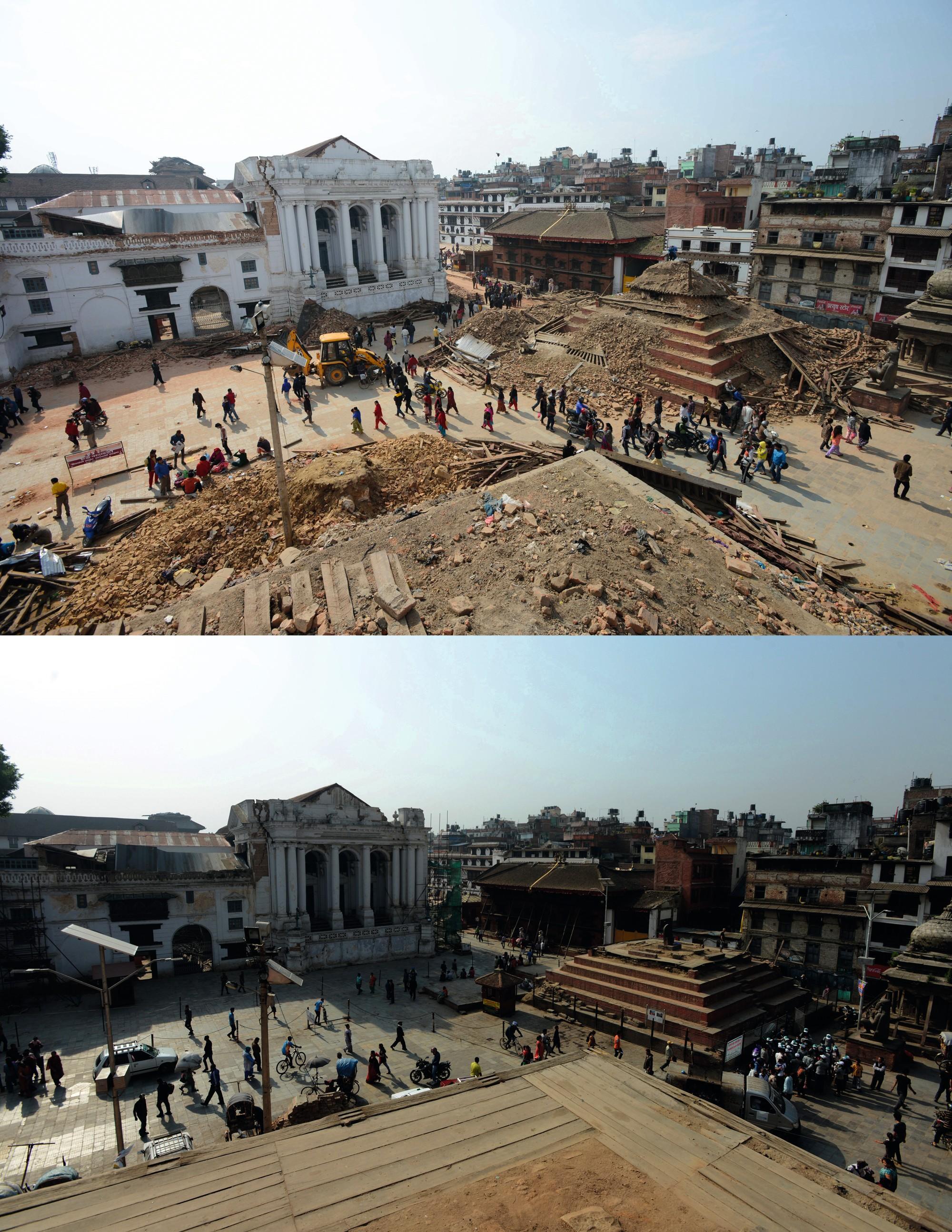 La place Durbar, à Katmandou (Népal) en 2015