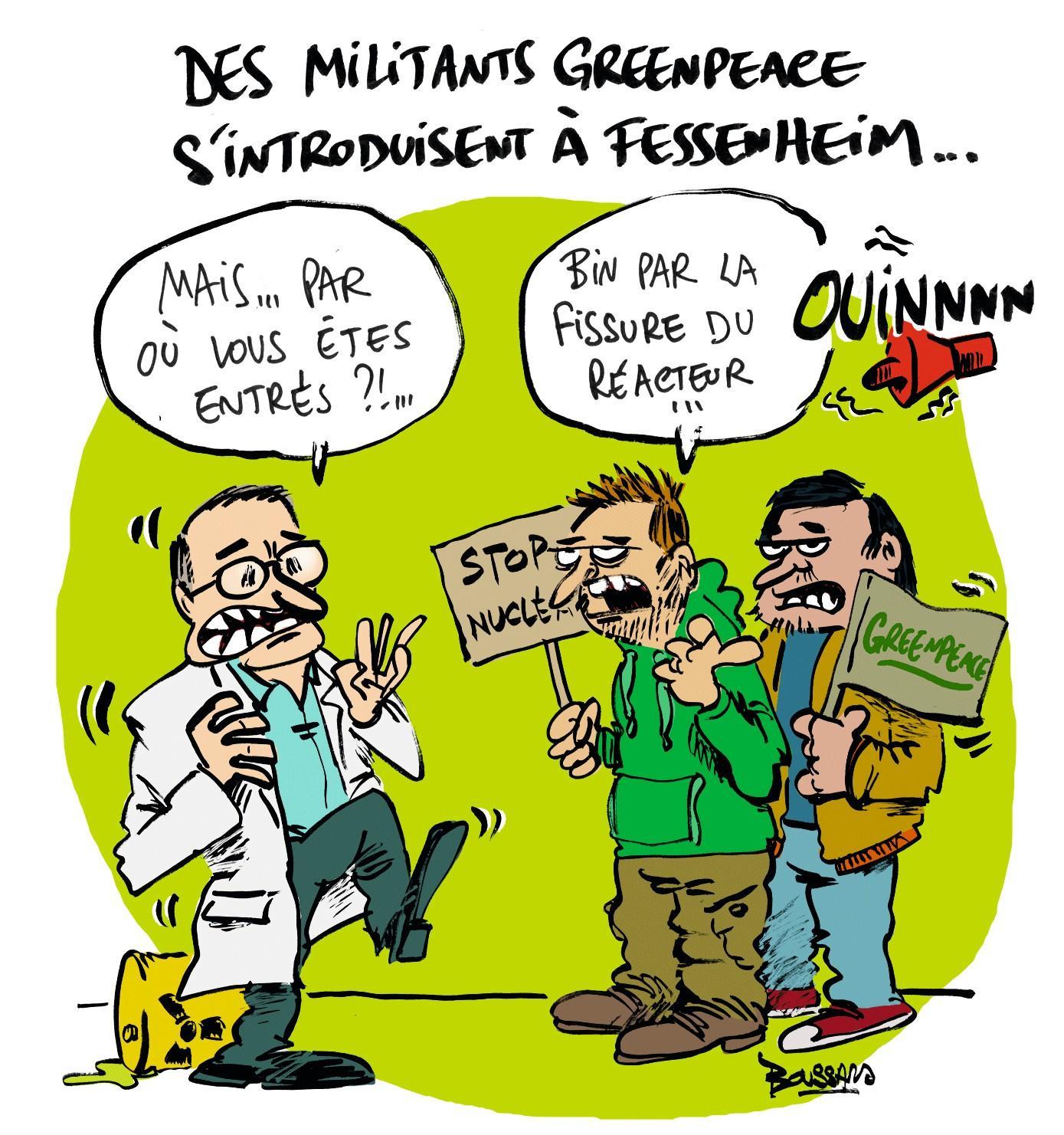 Des militants s'introduisent dans une centrale nucléaire française en 2015