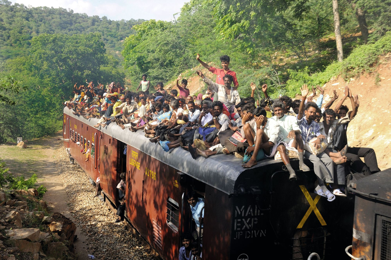 Train bondé au Rajasthan (Inde)
