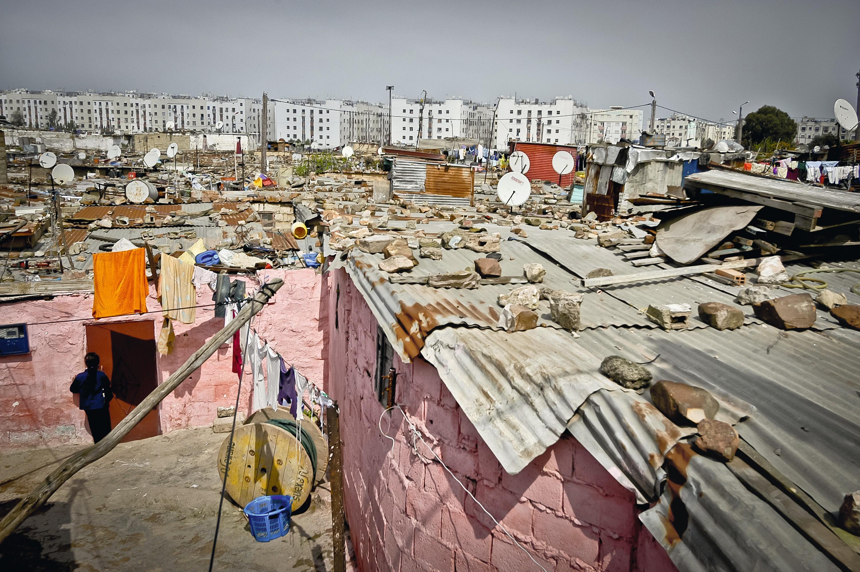 Un bidonville à Casablanca