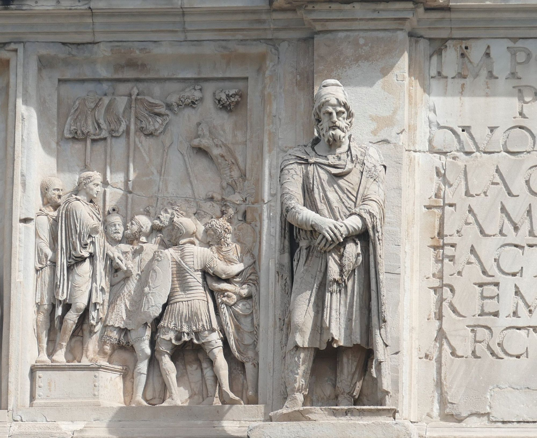 Arc de Constantin (détail), 315 apr. J.-C., Rome