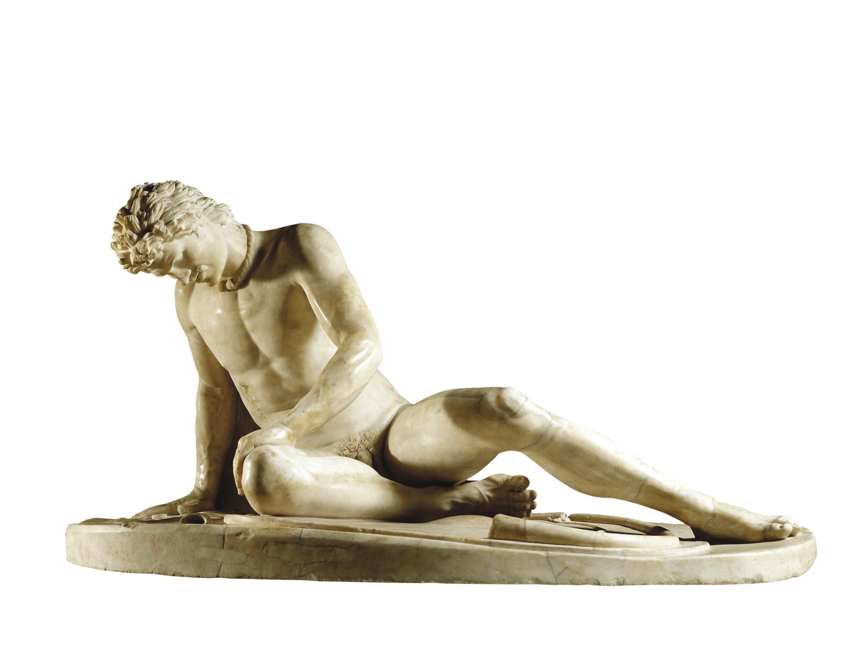 Statue d'un galate mourant, copie romaine en marbre (fin du Ier siècle av. J.-C.) d'un original grec en bronze (v. 230 av. J.-C.), musée du Capitole, Rome