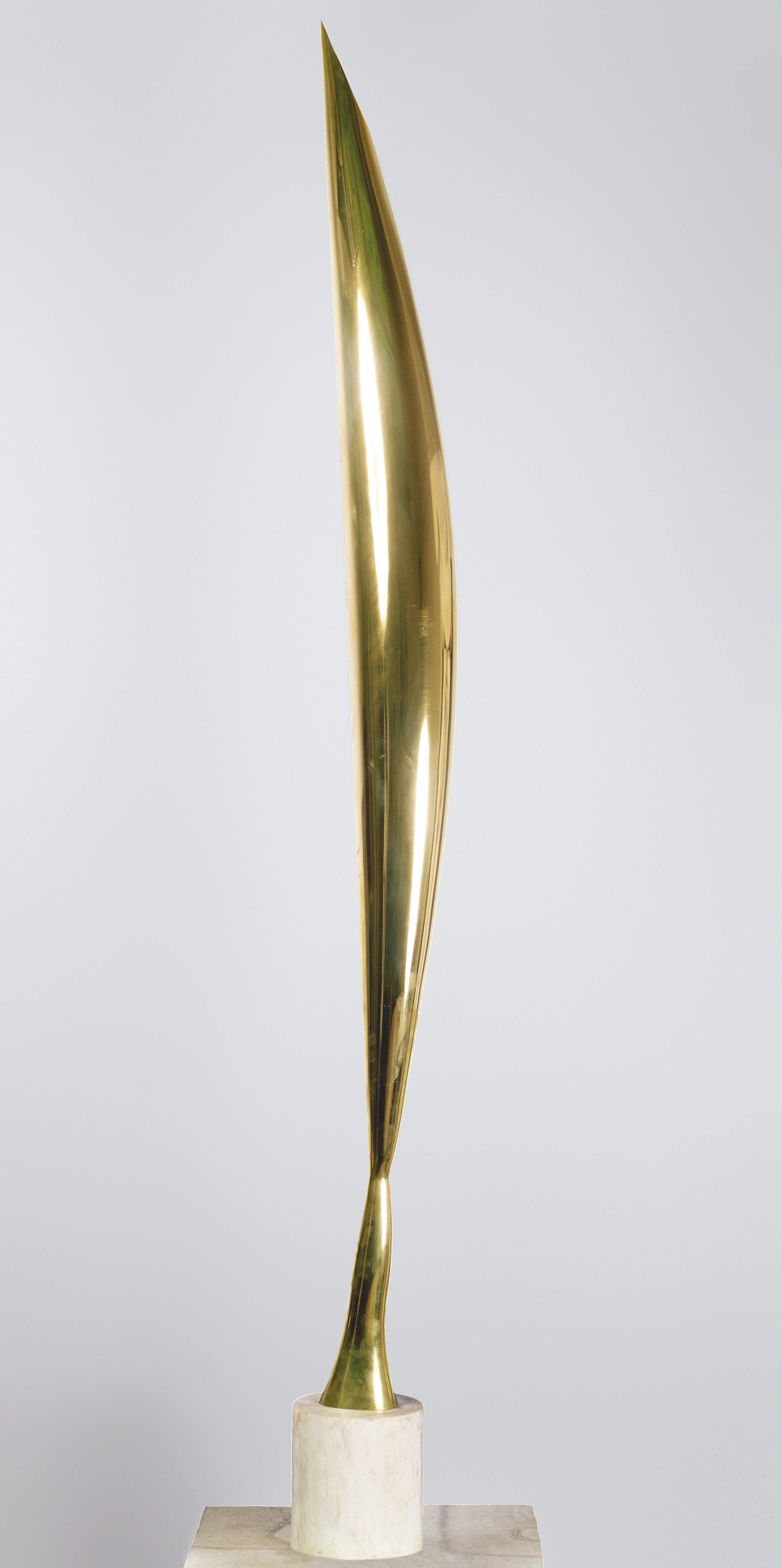 Constantin Brancusi, L'Oiseau dans l'espace, 1924, bronze poli, musée d'art de Philadelphie, États-Unis.