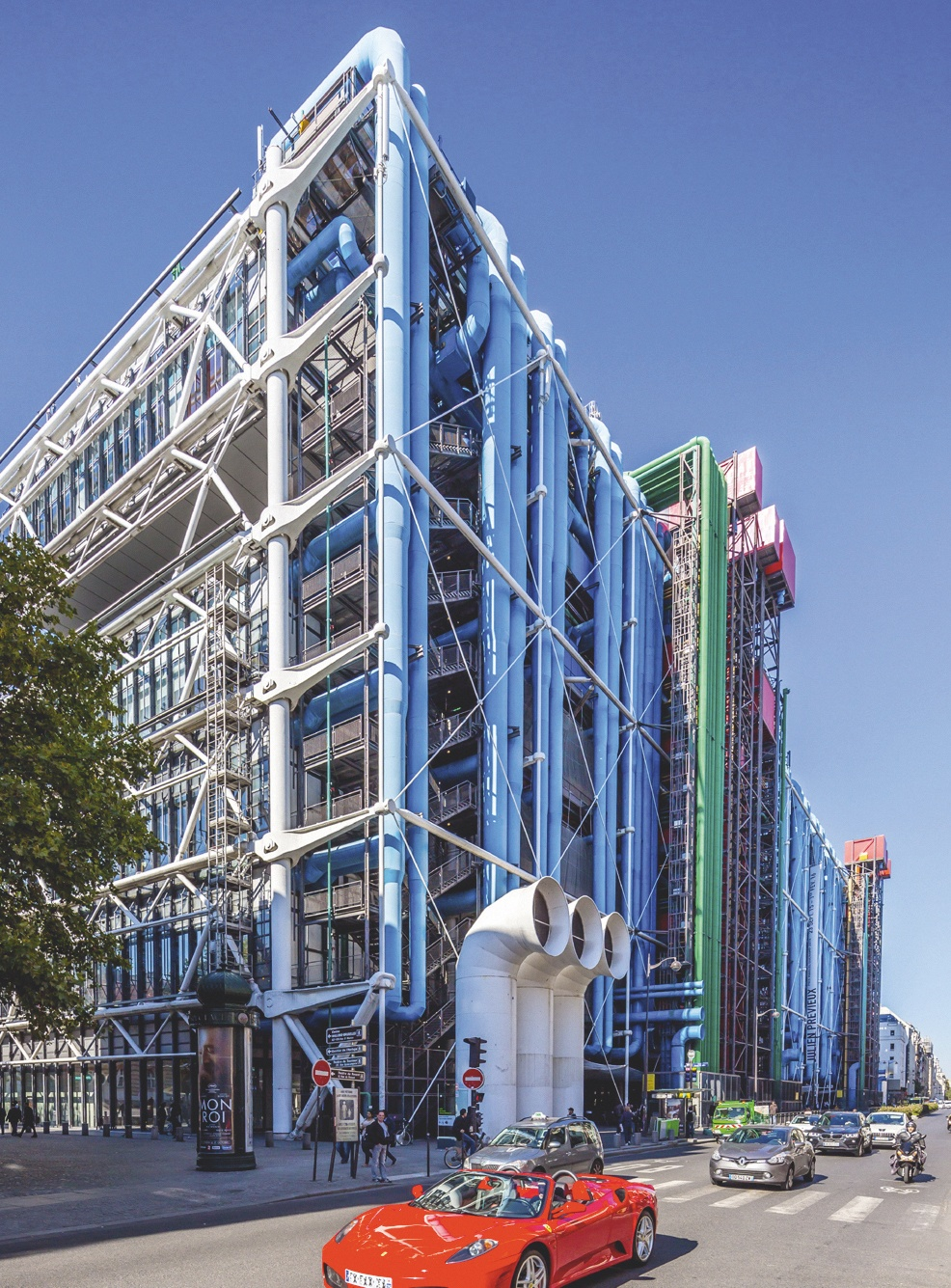 Renzo Piano et Richard Rogers, Centre Pompidou, 1971 - 1978, Paris.