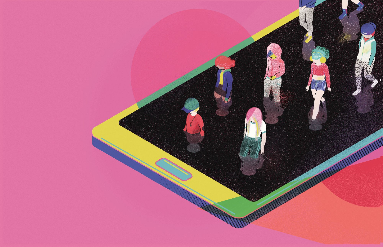 Ana Galvañ, portada de Los hijos del móvil, 2018.