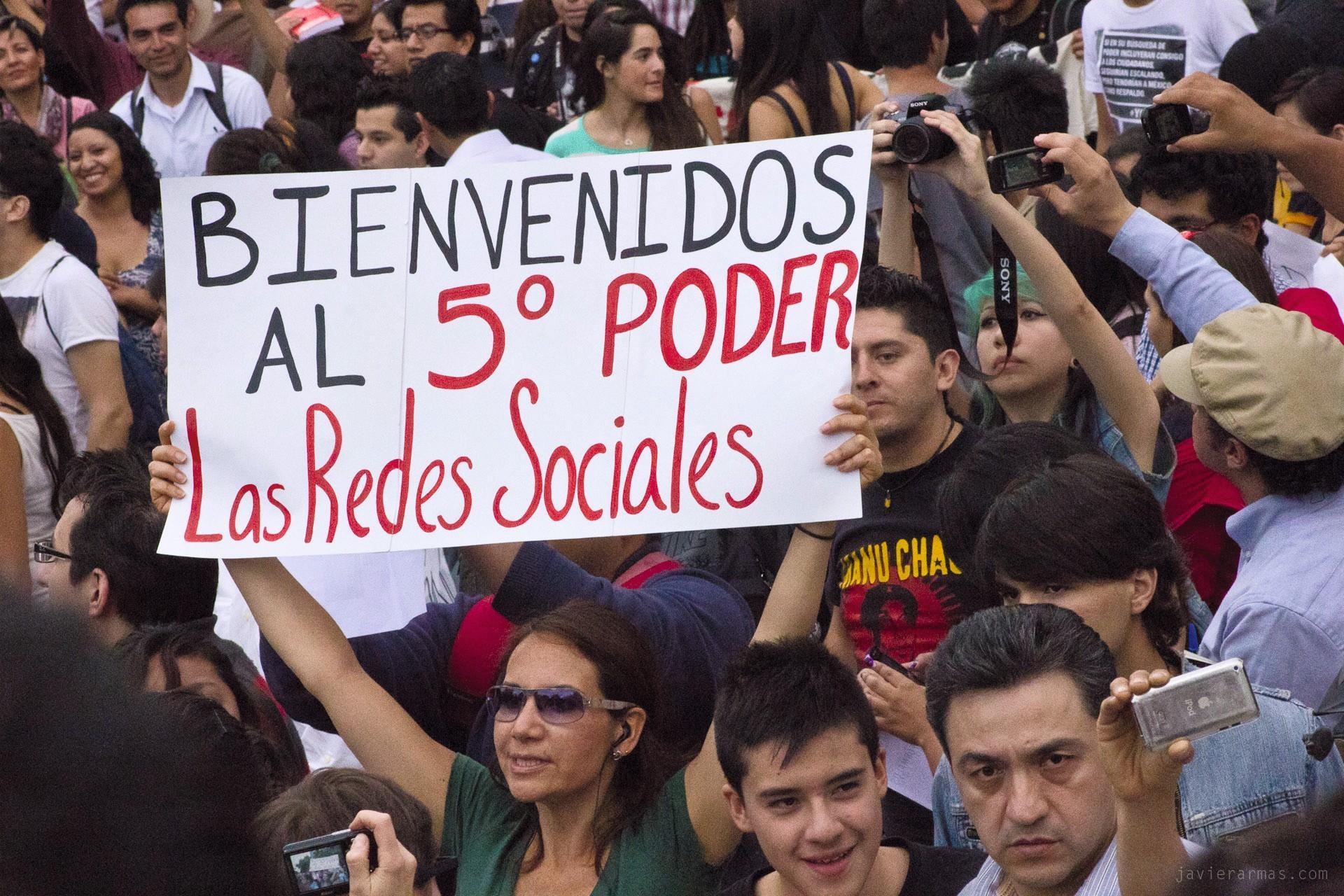 Javier Armas, movimiento social  #yosoy132 por la libertad de  expresión, México, 2017.
