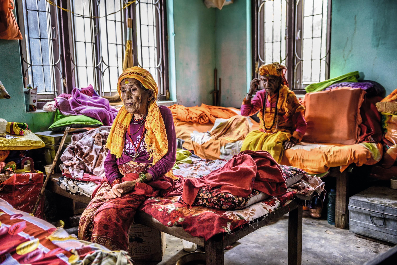 Une maison de retraite à Katmandou au Népal