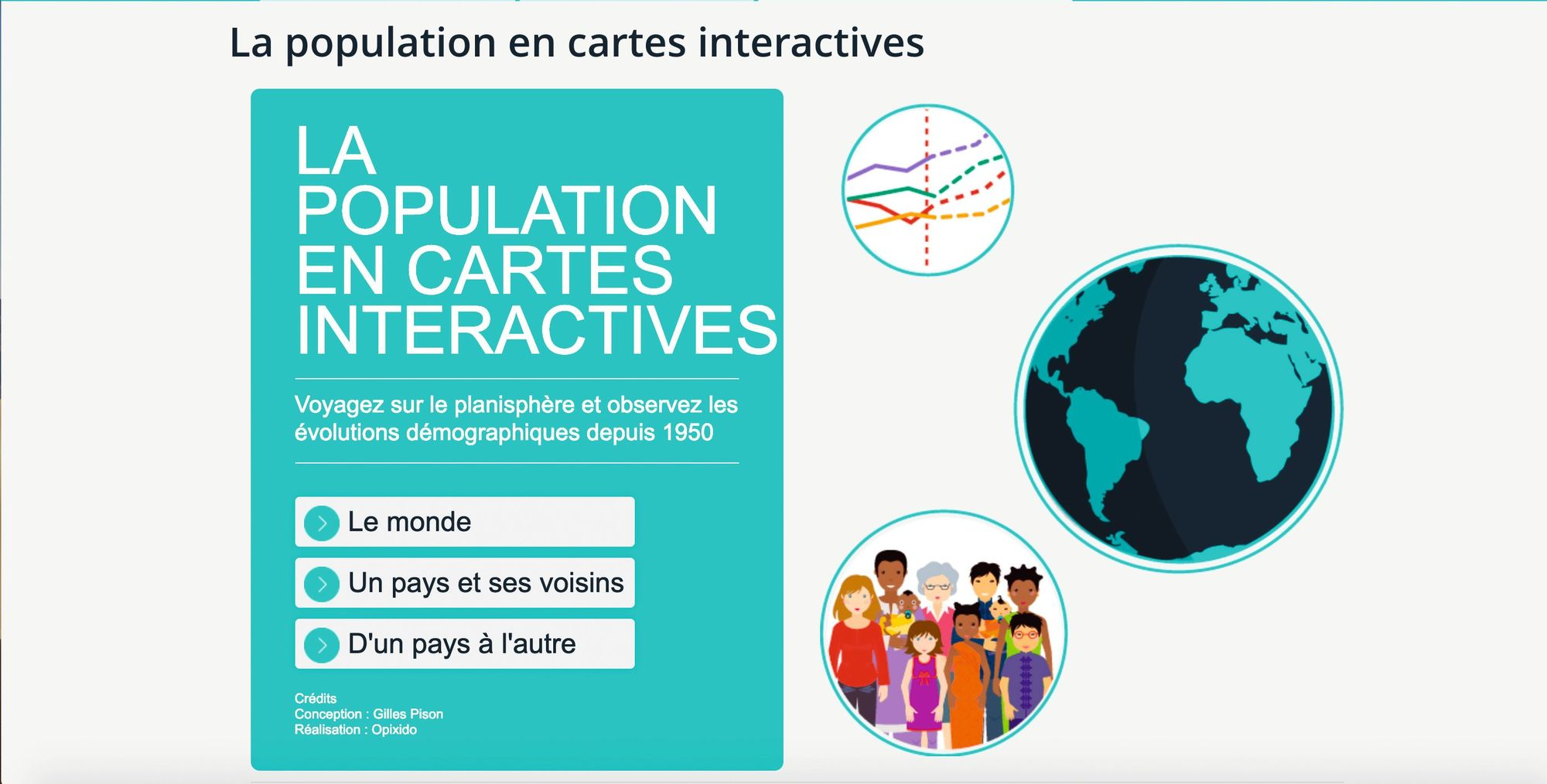 La population en cartes interactives
