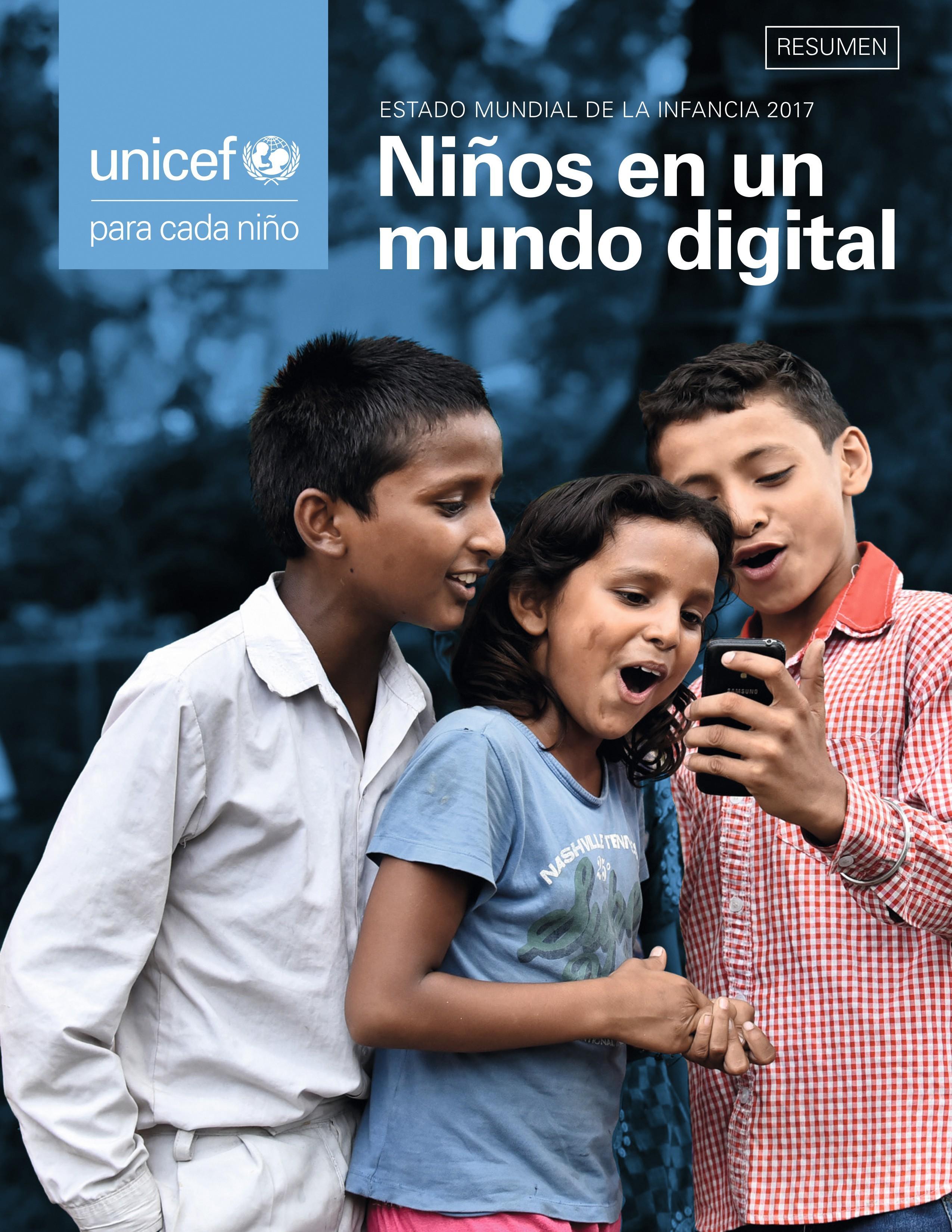 Campaña UNICEF Niños en un mundo digital realizada por Pablo Rebaque, 2017.